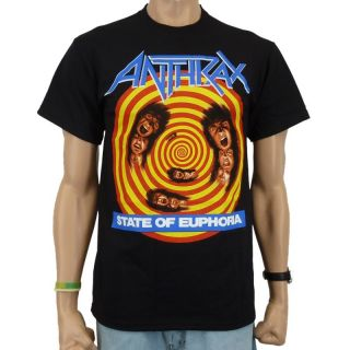 Anthrax   State Of Euphoria Band T Shirt, schwarz