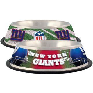 New York Giants Stainless Steel Pet Bowl   Team Shop   Dog