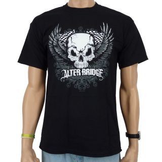 Alter Bridge   Skull Wings Band T Shirt, schwarz