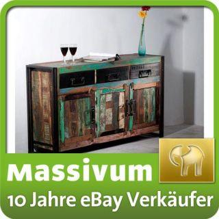 Sideboard Anrichte Kommode antik Holz Metall Industrie Designer Moebel