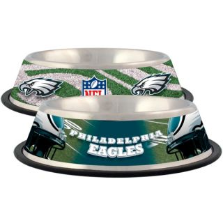 Philadelphia Eagles Stainless Steel Pet Bowl   Team Shop   Dog