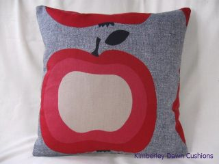 16  Apple Retro Red Beige Black Scatter Scatter Pillow Cushion Cover