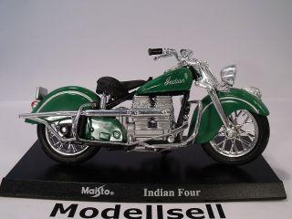 Harley Davidson Indian Four 118 Maisto Motorrad + Standplatte