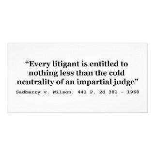 Judge Sadberry v Wilson 441 2d 381 1968 Photo Card