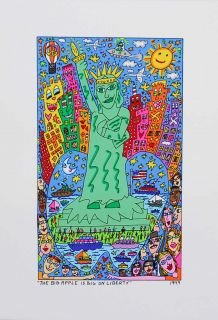 James Rizzi   The Big Apple Is Big On Liberty   2D