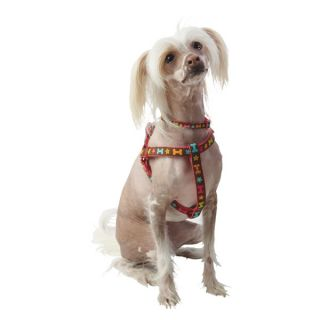 Top Paw&reg Chloe  Multi Print/Pink & Brown Dog Harness