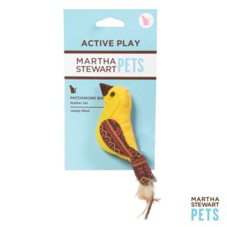 Martha Stewart Yellow Fair Isle Bird Cat Toy   Plush Toys   Toys