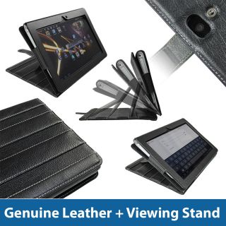 Black Guardian Leather Case for Sony Tablet S Android 16GB WiFi
