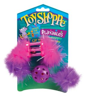 ToyShoppe� Plastic Toy with Feather Cat Toy