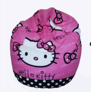 TOLLER SITZSACK SITZKISSEN für Kinder HELLO KITTY PINK