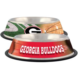 Georgia Bulldogs Stainless Steel Pet Bowl   Team Shop   Dog
