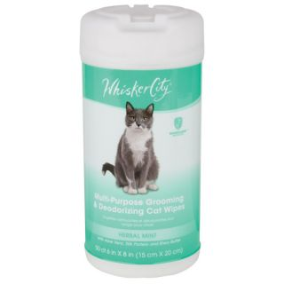 Whisker City Multi Purpose Cat Wipes   100 ct