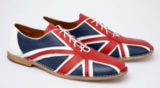 Delicious Junction Union Jack Flag Mod Retro Dancing Bowling Shoe Red