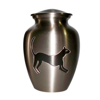 Star Legacy's Feline Silhouette Brass Pet Urn   Pet Memorial   Cat