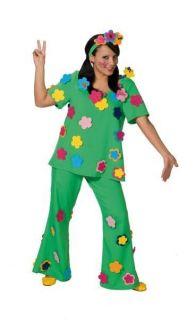 70er Jahre Hippie Flower Power Blumenkostüm Kostüm Gr. 36, 38, 40