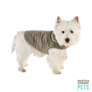 Martha Stewart Pets™ Quilted Barn Coat   Grey   Martha Stewart Pets   Dog