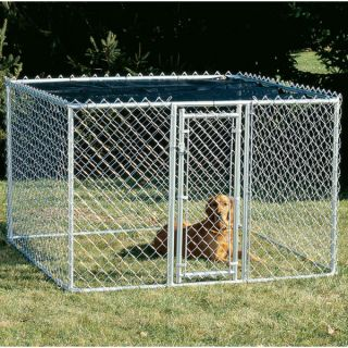 Midwest Chain Link Portable Kennel with Sunscreen   Summer PETssentials   Dog