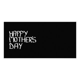 Happy Mothers Day. In Black and White. Photo Greeting Card