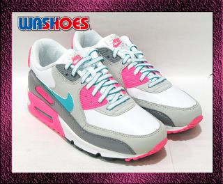 2011 Nike Air Max 90 2007 GS White Grey Pink Green US 3.5Y~7Y girl 1