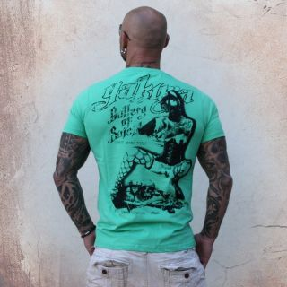 NEU Yakuza Herren T Shirt TS 23 jade cream Rundhals NEU NEU Men Shirt