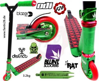 F26 Custom Blunt Envy Stunt Scooter Mgp Odi district blazer pro Parts