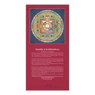 of Chenrezig / Avalokiteshvara Photo Card Template