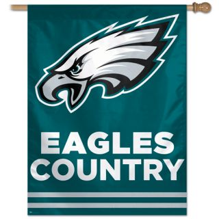 Eagles NFL Logo EAGLES COUNTRY 27 x 37 Vertical Flag