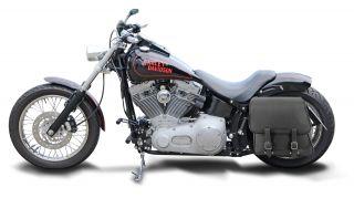 Harley Davidson Softail kurzes Heck 28 Liter Satteltasche Packtasche