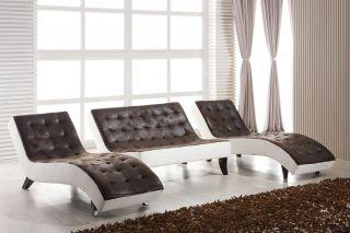 Doppel Liege U Couch Sofa Recamiere Chaiselongue Relaxliege 515 U PU