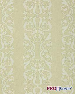 EDEM 829 28 Barock Streifen Tapete Damask Muster grün beige hell