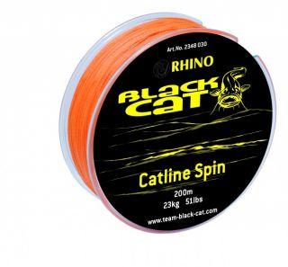 Black Cat Catline Spin 200m 0,30 / 0,38mm Wallerschnur geflochtene