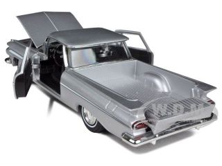 1959 CHEVROLET EL CAMINO SILVER 132 DIECAST MODEL CAR SIGNATURE