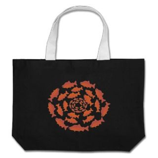 Red Salmon Fish Canvas Bags