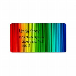 Bright Rainbow Address Label