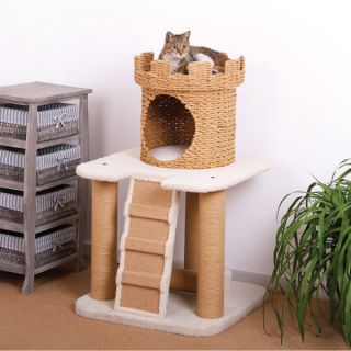 PetPals Eco Friendly Sand Castle Cat Condo   Cat   Boutique