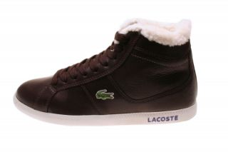 Lacoste Herrenschuhe Observe Hi Fur Dark Brown