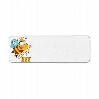funny caroon queen bee wih ex reurn address label