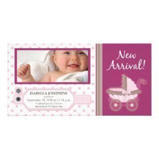 TBA} Hospital ID Tag Baby Birth Announcement Custom Photo Card