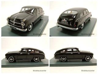 Borgward Hansa 2400 1955 schwarz Modellauto 143 Neo