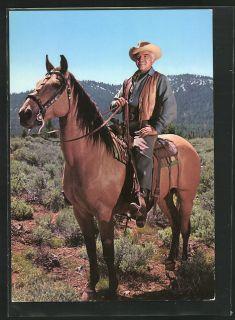 tolle AK Bonanza, Ben Cartwright auf seinem Pferd, Lorne Greene
