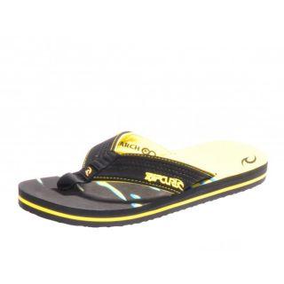 Rip Curl Ripper 4 Zehentrenner Bade  Schuhe black yellow schwarz gelb