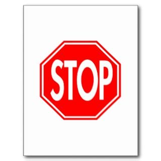 Stop Sign Postcards & Postcard Template Designs