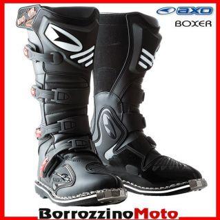 STIEFEL AXO BOXER MOTO MOTOCROSS MX ENDURO OFF ROAD SCHWARZ Groesse 44