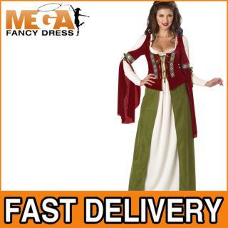 Kostüm Fasching Damen Robin Hood Maid Marion Verkleidung Mittelalter