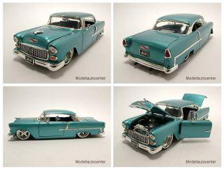 Chevrolet Bel Air 1955 blau metallic, Modellauto 124, Jada Toys