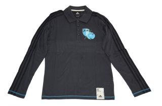 Adidas Co LS Polo O02625 Herren Shirt Langarm polo dunkelblau S 2XL