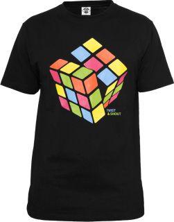Urban Classics Men Shirt CUBEKultshirt Zauberwürfel 80er Klassiker