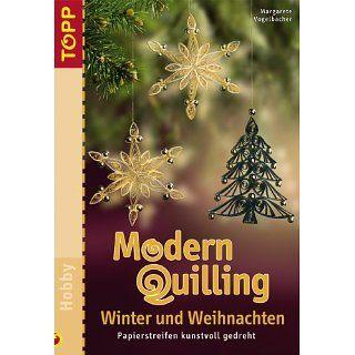 Modern Quilling. Winter und Weihnachten Papierstreifen kunstvoll