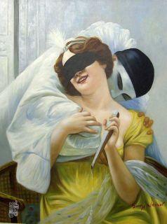 COLUMBINE  Edles Ölgemälde Gemälde 50x60cm Oil painting Bild 51
