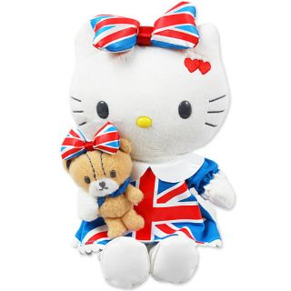 Hello Kitty Union Jack Plush doll Good for Christmas GIFT or your